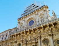 The Santa Croce in Lecce Stock Image