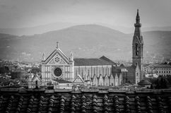 Santa Croce from Palazzo Vecchio Stock Image
