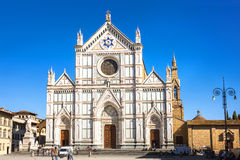 Santa Croce Piazza and Church. Florence, Italy. Royalty Free Stock Photo