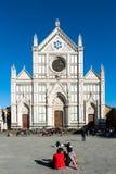 Santa Croce-piazza en Kerk, Florence, Italië Royalty-vrije Stock Afbeelding