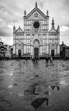Santa Croce in rain - Florence, Italy Royalty Free Stock Photos
