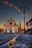 Santa Croce Square Florence Fotografía de archivo