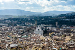 Santa Croce view from Duomo, Florence, Italy Stock Images