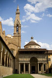 Santa Croce yard, Florence, Italy Royalty Free Stock Images
