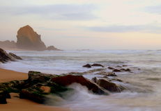 Santa Cruz. Guincho rock in Santa Cruz beach near Lisbon, Portugal Royalty Free Stock Image
