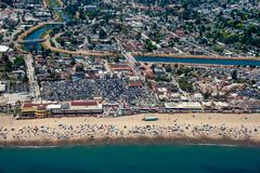 Santa Cruz Beach Aerial View stock afbeelding