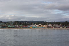 Santa Cruz Beach Boardwalk Amusement Park Royalty Free Stock Photo