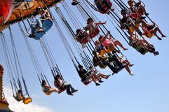 SANTA CRUZ BEACH BOARDWALK, SANTA CRUZ, CALIFORNIA, USA - July 22, 2015 Stock Images