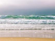Santa Cruz Beach Clear Blue Water lizenzfreies stockbild