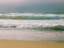 Santa Cruz Beach Ocean Waves Sight Fotografering för Bildbyråer