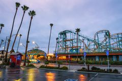 Santa Cruz Boardwalk e parque de diversões foto de stock royalty free