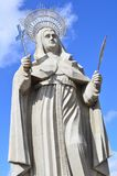 SANTA CRUZ, BRÉSIL - 25 septembre 2017 - vue de la cour de la plus grande statue catholique dans le monde, la statue du saint R photo stock