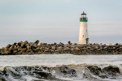 Santa Cruz Breakwater Light Walton Lighthouse royaltyfria bilder