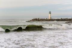 Santa Cruz Breakwater Light Walton Lighthouse foto de stock royalty free