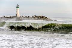 Santa Cruz Breakwater Light Walton Lighthouse imagem de stock