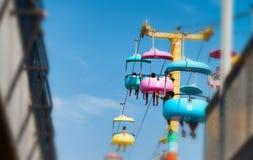 SANTA CRUZ, CA - 4-ОЕ АВГУСТА 2017: Парк атракционов на пляже Th Стоковое Изображение