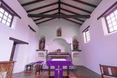Santa Cruz, California - 24 marzo 2018: Dettagli dell'altare della cappella di missione della missione Santa Cruz Immagine Stock Libera da Diritti