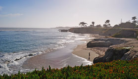 Santa Cruz, California, United States of America, Usa. The coast of Santa Cruz on June 15, 2010. Santa Cruz is known for the natural beauty of its coastline, its royalty free stock images