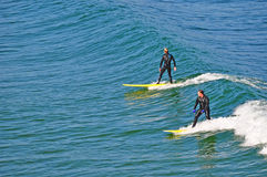 Santa Cruz, California, United States of America, Usa. Surfers in Santa Cruz on June 15, 2010. Santa Cruz is known for the natural beauty of its coastline, its stock images