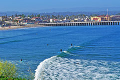 Santa Cruz, California, United States of America, Usa. Surfers in Santa Cruz on June 15, 2010. Santa Cruz is known for the natural beauty of its coastline, its stock photography