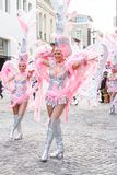 Santa Cruz Carnival Group of the Spain presents a dance show inside of  Stock Image