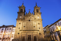 Santa Cruz Church in Braga at dawn Stock Image