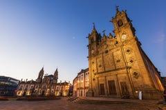 Santa Cruz Church in Braga at dawn Royalty Free Stock Photos