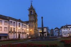 Santa Cruz Church in Braga at dawn Stock Photo