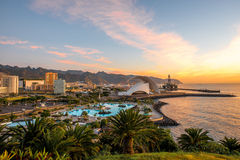 Santa Cruz-cityscape mening royalty-vrije stock afbeelding