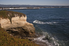 Santa Cruz Coast. This is a picture of the Santa Cruz coast with the Santa Cruz wharf or pier in the background stock image