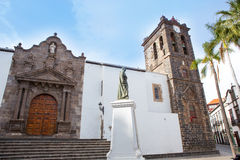 Santa Cruz de Λα Palma Plaza de Espana Iglesia Στοκ Φωτογραφία