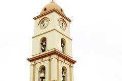 Santa Cruz de Ла Сьерра, башня церковного колокола Боливии религиозная стоковое изображение rf