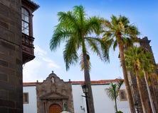 Santa Cruz de La Palma Plaza de Espana Iglesia Imagen de archivo libre de regalías