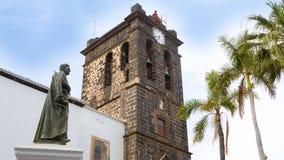 Santa Cruz de La Palma Plaza de Espana Iglesia Fotos de archivo libres de regalías