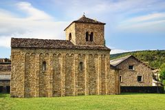 Santa Cruz de la Seros, romanesque church in Royalty Free Stock Photos