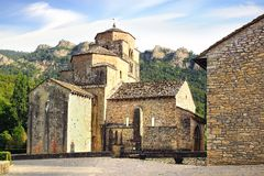 Santa Cruz de la Seros, romanesque church in Royalty Free Stock Images