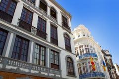 Santa Cruz De Los Angeles Palma kolonisty domu fasady Zdjęcie Stock