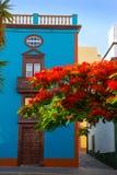 Santa Cruz De Los Angeles Palma kolonisty domu fasady Zdjęcie Royalty Free