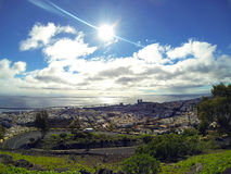 Santa Cruz de Tenerife, Canary Islands, Spain. View over the capital in Tenerife. Santa Cruz de Tenerife, Canary Islands, Spain stock images
