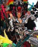 Santa Cruz de Tenerife Carnival. SANTA CRUZ, TENERIFE, SPAIN - FEBRUARY 16.  Santa Cruz de Tenerife Carnival  2010: Woman in costume Stock Photos