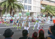 Santa Cruz de Tenerife Carnival 2014 Royalty Free Stock Images