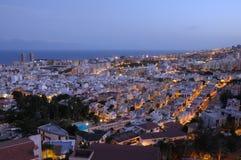 Santa Cruz de Tenerife dusk Στοκ Φωτογραφίες