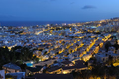 Santa Cruz de Tenerife at night Stock Images