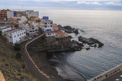 Santa Cruz de Tenerife, Puerto de Santiago coast view at winter time royalty free stock photos