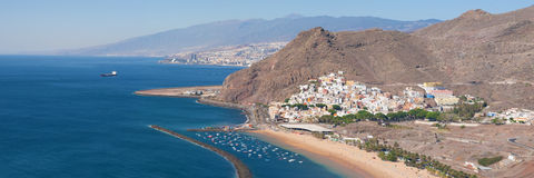 Santa Cruz de Tenerife and San Andres Royalty Free Stock Photos