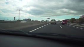 Santa Cruz De Tenerife, Spain - April, 17, 2019 - Timelapse Tenerife road on a cloudy day. Highway on the island stock video