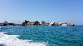Santa Cruz del Islote. Colombia - The most densely populated island in the world Stock Image