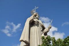 SANTA CRUZ, el BRASIL - 25 de septiembre de 2017 - vista del patio de la estatua católica más grande del mundo, la estatua del sa imágenes de archivo libres de regalías