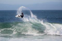 Santa Cruz, el practicar surf de California Imagenes de archivo