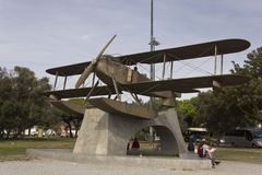 Santa Cruz Fairey Seaplane monumen Royaltyfria Bilder